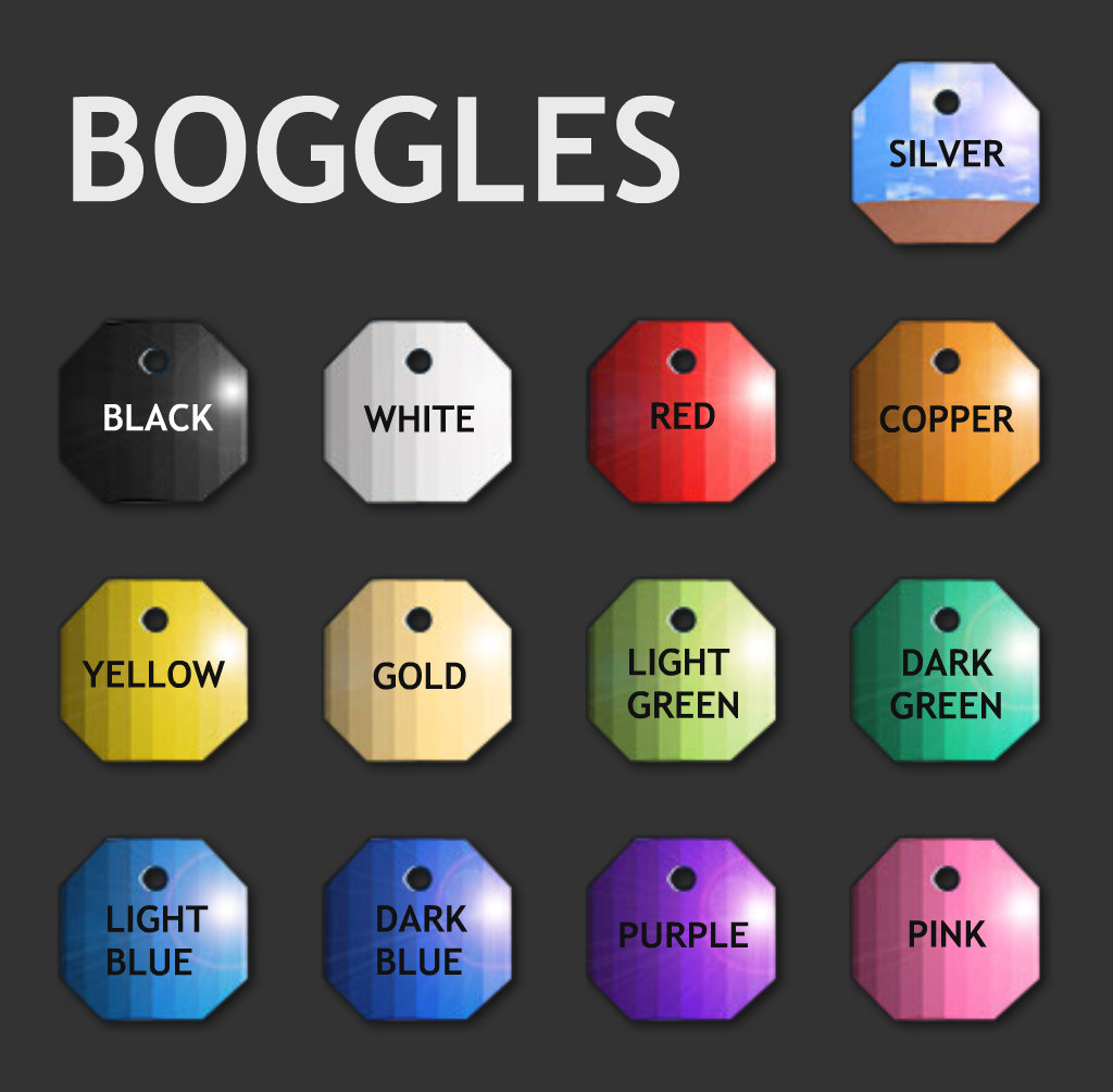 Boggle colors