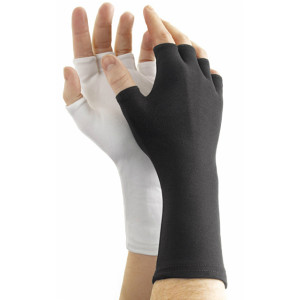 Long Wrist Fingerless Nylon Gloves