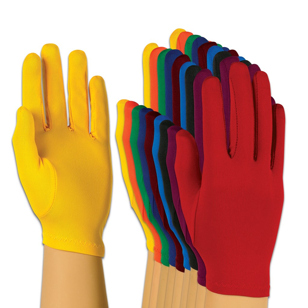 Style Plus Solid Color Polyester Gloves
