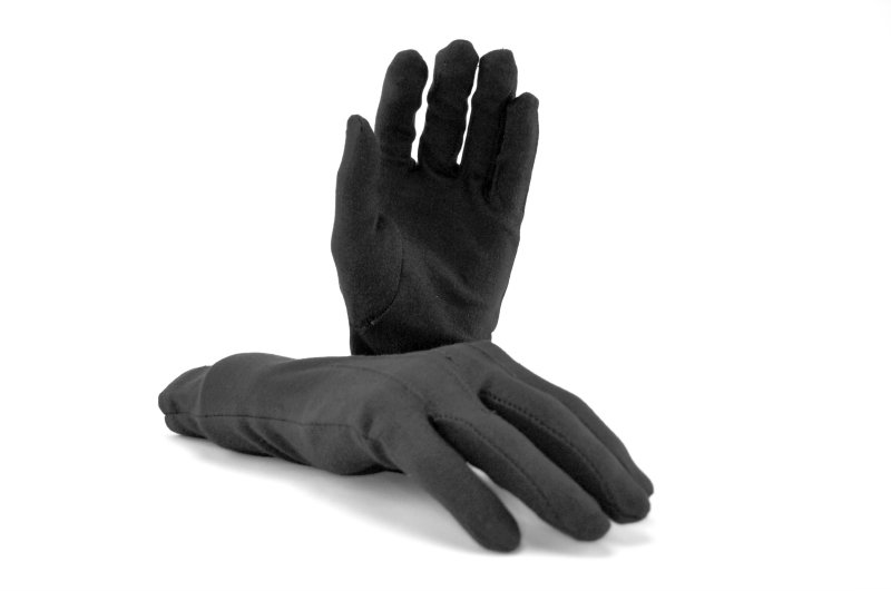 Long Wrist Cotton Gloves Black Marching World