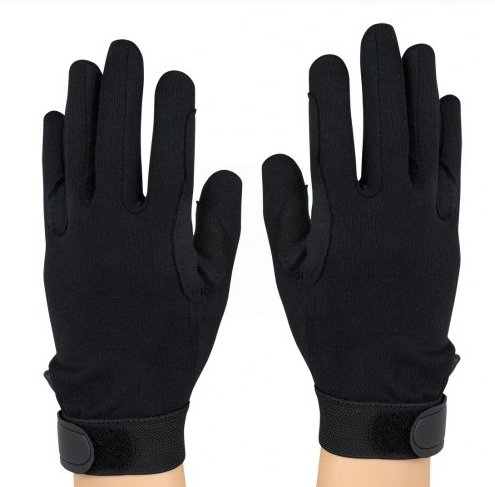 StylePlus Deluxe Cotton Military Gloves – Black