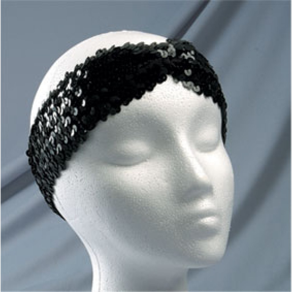 2″ Sequin Headband With Front Pleat